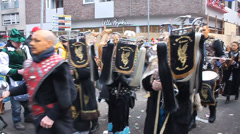 Traditional carnival in Cologne Stock Footage