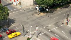 City Traffic TIme Lapse Intersection Stock Footage