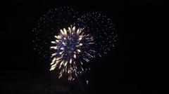Fireworks Rhein in Flammen - stock footage