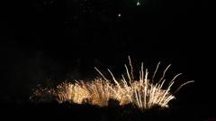 Fireworks Rhein in Flammen Stock Footage