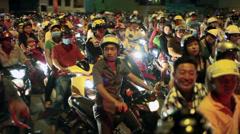 VIETNAM SCOOTER TRAFFIC - Ho Chi Minh City Stock Footage