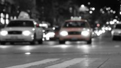 CIty Traffic Time Lapse BW Stock Footage