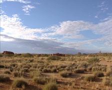 Pan desert valley with scattered marbles Karlu Karlu / Devils Marbles Stock Footage