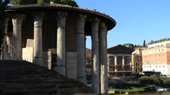 Temple of Hercules Victor in Rome 2 Stock Footage