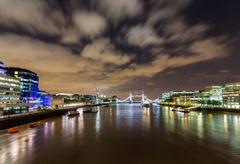 hms belfast on river thames - stock photo