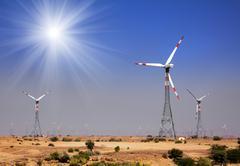 Tuulipuisto - kääntämällä tuulimyllyjä Intiassa Kuvituskuvat