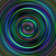Dark multicolored circles disk illustration. Stock Illustration