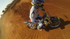 Sport Motocross exciting racing exciting tough adventure extreme sports off road - stock footage
