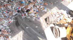 A Front End Loader Moves Trash at a Recycle Center ( 8 of 9) Stock Footage