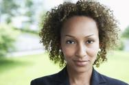 Stock Photo of Closeup Of Businesswoman Outdoors