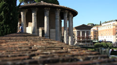 Temple of Hercules Victor in Rome 1 Stock Footage