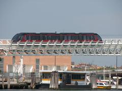 Stock Photo of fast monorail train to transport tourists and commuters