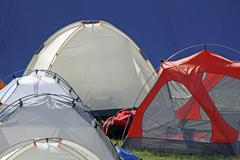 Tents igloo for the adventurous expedition Stock Photos
