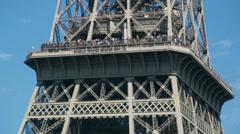 Eiffel tower closeup, paris france 4k Stock Footage