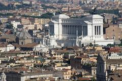 Vittoriano monument dedicated to vittorio emanual ii king Stock Photos