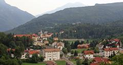Characteristic mountain village called tonezza del cimone in the province of Stock Photos