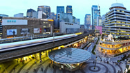 Stock Video Footage of City Traffic Time Lapse Tokyo Ginza Station