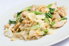 Pad se-ew moo, thai food Stock Photos