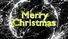 Merry Christmas Gold Text in Particles - stock footage