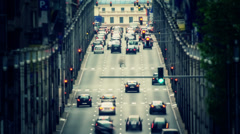 City Traffic Time Lapse Brussels Stock Footage