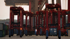 Container-Lifter Stock Footage