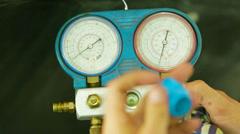 Manometer-pressure gauge Stock Footage
