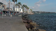 Paphos embankment view, Cyprus Stock Footage