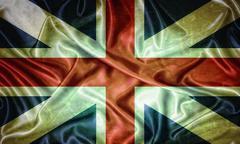 Vintage britain flag. Stock Illustration
