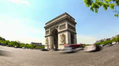 City Traffic Time Lapse Paris - stock footage
