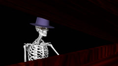 Funny Skeleton - Piano Player - Loop 05 - stock footage