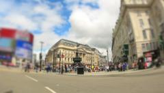 City Traffic Time Lapse London Fisheye Zoom - stock footage