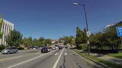 Salt Lake City Utah urban center driving street 5 POV HD 0161 Stock Footage