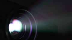 Movie projector lense light ray Stock Footage