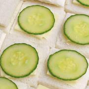 Stock Photo of cucumber sandwich