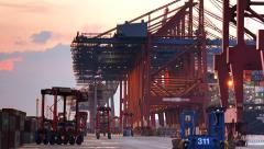 Container port Stock Footage