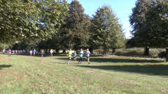 Childrens charity run, Bushy Park, London Stock Footage