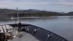 Alaska Marine Highway Ferry in Wrangell Narrows Stock Footage