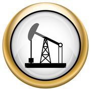 Oil pump icon Stock Illustration