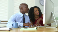 Stock Video Footage of Black business colleagues working together