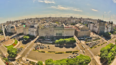 City Traffic Time Lapse Buenos Aires HDR Above Stock Footage