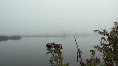 Fog on lake (4).mp4 Stock Footage