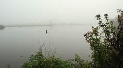Fog on lake (6).mp4 Stock Footage