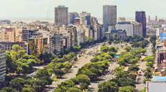 City Traffic Time Lapse Buenos Aires Above - stock footage
