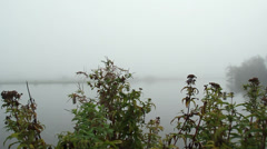 Fog on lake (5).mp4 Stock Footage