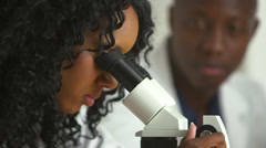 African American medical researchers Stock Footage