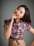 Portrait of sexy asian cowgirl kinky Stock Photos
