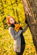 Stock Photo of romance in autumn