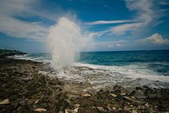 Caribbean Blow Holes Stock Photos