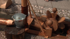 Small watermill - Mittenwald, Germany - Bozner Markt 2012 Stock Footage
