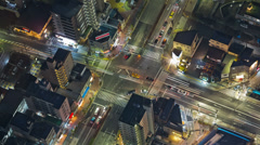 City Traffic Time Lapse Tokyo Above Stock Footage
